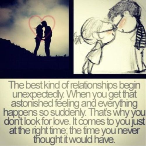 The best kind of relationships begin unexpectedly