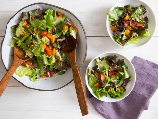 Green Salad With Tomatoes, Scallions, and Toasted Kasha