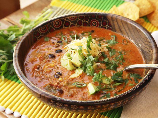 Easy Creamy Chicken Enchilada Soup