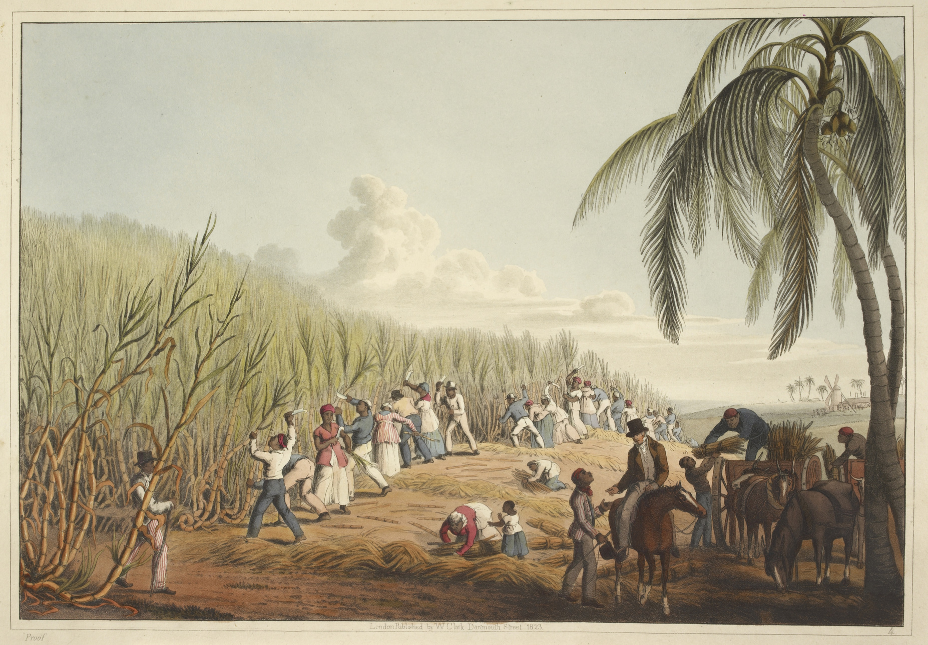 Slaves_cutting_the_sugar_cane_-_Ten_Views_in_the_Island_of_Antigua_(1823),_plate_IV_-_BL