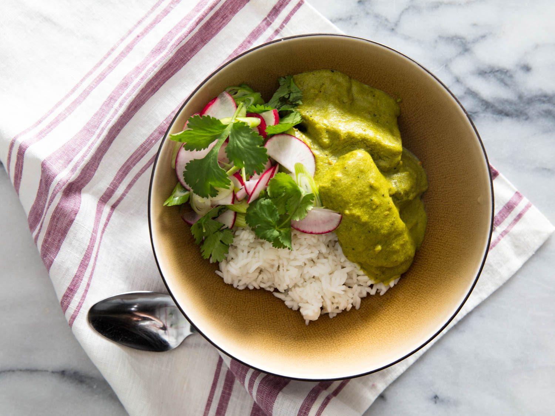 Vegan Cashew Milk–Braised Green Plantains